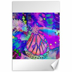 Psychedelic Butterfly Canvas 12  x 18   by MichaelMoriartyPhotography
