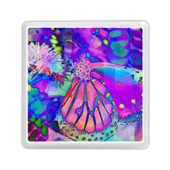 Psychedelic Butterfly Memory Card Reader (Square)  by MichaelMoriartyPhotography