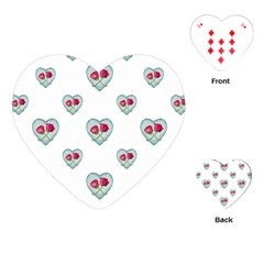 Love Ornate Motif Print Playing Cards (heart)  by dflcprints