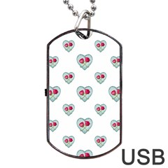 Love Ornate Motif Print Dog Tag Usb Flash (two Sides)  by dflcprints