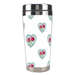 Love Ornate Motif Print Stainless Steel Travel Tumblers by dflcprints