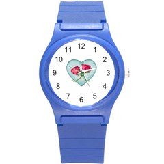 Love Ornate Motif  Round Plastic Sport Watch (s) by dflcprints