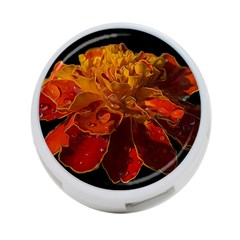 Marigold On Black 4 Port Usb Hub (two Sides)  by MichaelMoriartyPhotography