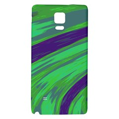 Swish Green Blue Galaxy Note 4 Back Case by BrightVibesDesign