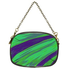 Swish Green Blue Chain Purses (one Side)  by BrightVibesDesign