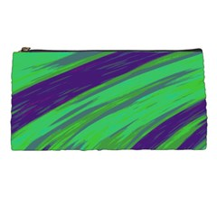 Swish Green Blue Pencil Cases by BrightVibesDesign