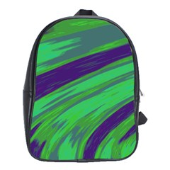 Swish Green Blue School Bags(large)  by BrightVibesDesign