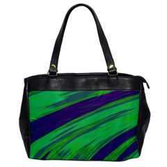 Swish Green Blue Office Handbags by BrightVibesDesign