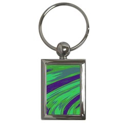 Swish Green Blue Key Chains (rectangle)  by BrightVibesDesign