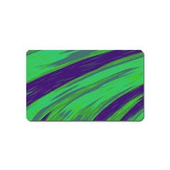 Swish Green Blue Magnet (name Card) by BrightVibesDesign