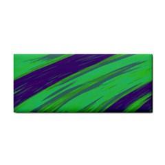 Swish Green Blue Hand Towel by BrightVibesDesign
