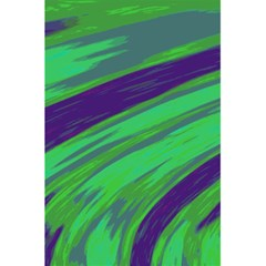 Swish Green Blue 5 5  X 8 5  Notebooks by BrightVibesDesign