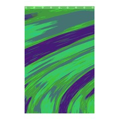 Swish Green Blue Shower Curtain 48  X 72  (small)  by BrightVibesDesign