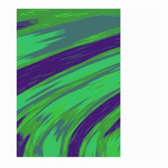 Swish Green Blue Large Garden Flag (two Sides) by BrightVibesDesign