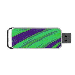 Swish Green Blue Portable Usb Flash (one Side) by BrightVibesDesign