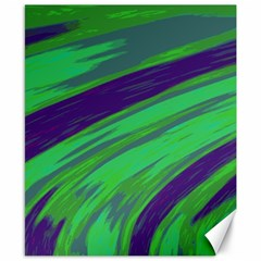 Swish Green Blue Canvas 8  X 10  by BrightVibesDesign