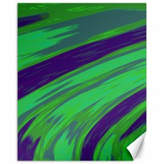 Swish Green Blue Canvas 16  X 20   by BrightVibesDesign