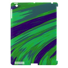 Swish Green Blue Apple Ipad 3/4 Hardshell Case (compatible With Smart Cover) by BrightVibesDesign