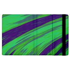 Swish Green Blue Apple Ipad 2 Flip Case by BrightVibesDesign