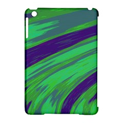Swish Green Blue Apple Ipad Mini Hardshell Case (compatible With Smart Cover) by BrightVibesDesign