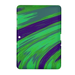 Swish Green Blue Samsung Galaxy Tab 2 (10 1 ) P5100 Hardshell Case  by BrightVibesDesign
