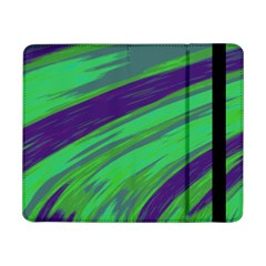 Swish Green Blue Samsung Galaxy Tab Pro 8 4  Flip Case by BrightVibesDesign