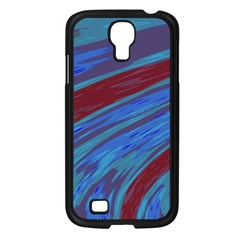 Swish Blue Red Samsung Galaxy S4 I9500/ I9505 Case (black) by BrightVibesDesign