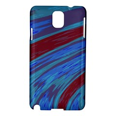 Swish Blue Red Samsung Galaxy Note 3 N9005 Hardshell Case by BrightVibesDesign