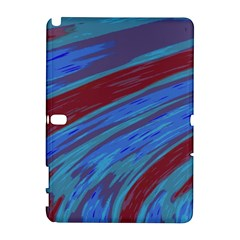 Swish Blue Red Samsung Galaxy Note 10 1 (p600) Hardshell Case by BrightVibesDesign