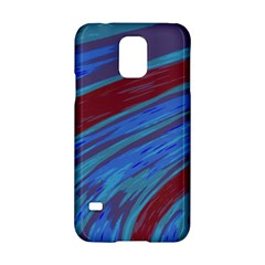 Swish Blue Red Samsung Galaxy S5 Hardshell Case  by BrightVibesDesign