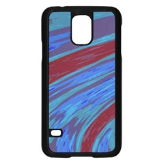 Swish Blue Red Samsung Galaxy S5 Case (black) by BrightVibesDesign