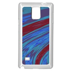 Swish Blue Red Samsung Galaxy Note 4 Case (white) by BrightVibesDesign