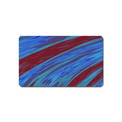 Swish Blue Red Abstract Magnet (name Card) by BrightVibesDesign
