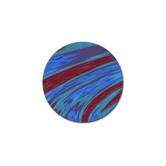 Swish Blue Red Abstract Golf Ball Marker (10 Pack) by BrightVibesDesign