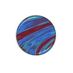 Swish Blue Red Abstract Hat Clip Ball Marker by BrightVibesDesign