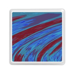 Swish Blue Red Abstract Memory Card Reader (square)  by BrightVibesDesign