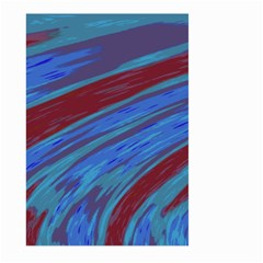 Swish Blue Red Abstract Large Garden Flag (two Sides) by BrightVibesDesign