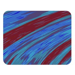 Swish Blue Red Abstract Double Sided Flano Blanket (large)  by BrightVibesDesign