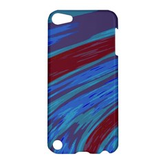 Swish Blue Red Abstract Apple Ipod Touch 5 Hardshell Case by BrightVibesDesign