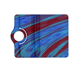 Swish Blue Red Abstract Kindle Fire Hd (2013) Flip 360 Case by BrightVibesDesign