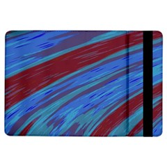 Swish Blue Red Abstract Ipad Air Flip by BrightVibesDesign