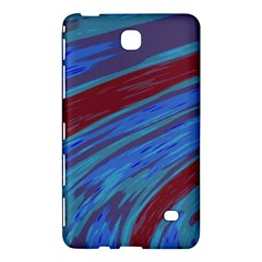 Swish Blue Red Abstract Samsung Galaxy Tab 4 (7 ) Hardshell Case  by BrightVibesDesign