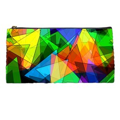 Colorful Triangles                                                                  pencil Case by LalyLauraFLM