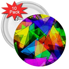 Colorful Triangles                                                                  3  Button (10 Pack) by LalyLauraFLM