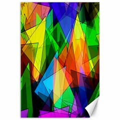 Colorful Triangles                                                                  			canvas 12  X 18  by LalyLauraFLM
