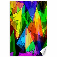 Colorful Triangles                                                                  			canvas 20  X 30  by LalyLauraFLM