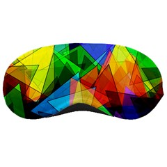 Colorful Triangles                                                                  			sleeping Mask by LalyLauraFLM