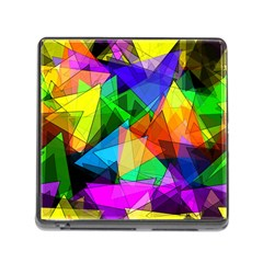 Colorful Triangles                                                                  			memory Card Reader (square) by LalyLauraFLM