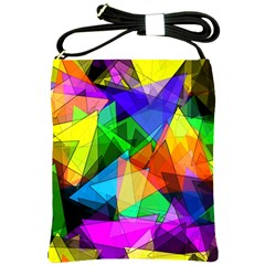 Colorful Triangles                                                                  			shoulder Sling Bag by LalyLauraFLM