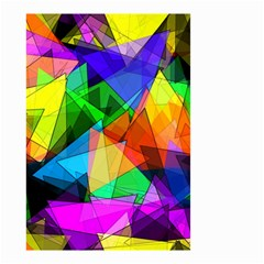 Colorful Triangles                                                                  Small Garden Flag by LalyLauraFLM